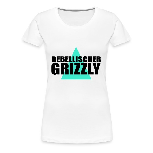 REBELLISCHER GRIZZLY WHITE GIRL - Frauen Premium T-Shirt