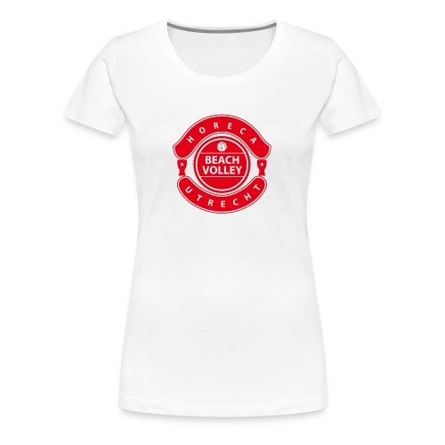 Horeca Beachvolley Utrecht - Front Red - Vrouwen Premium T-shirt