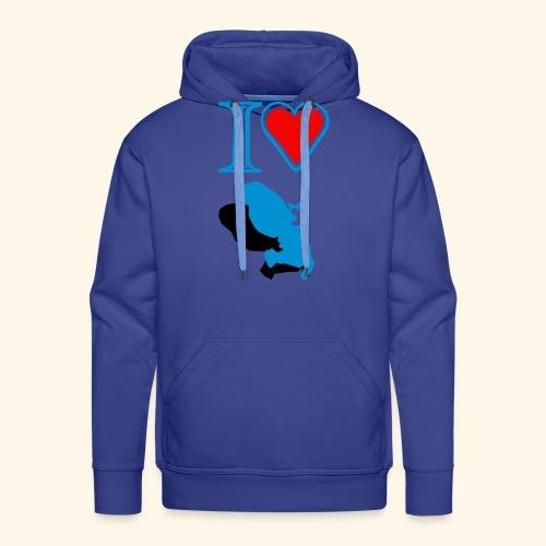 I love Martinique Sweatshirt - Sweat-shirt à capuche Premium pour hommes