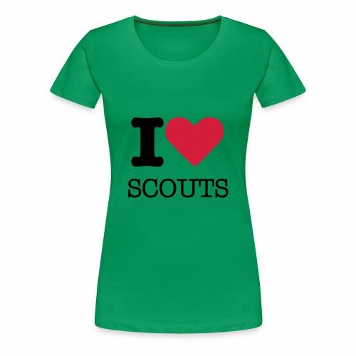 I love Scouts - T-shirt Premium Femme