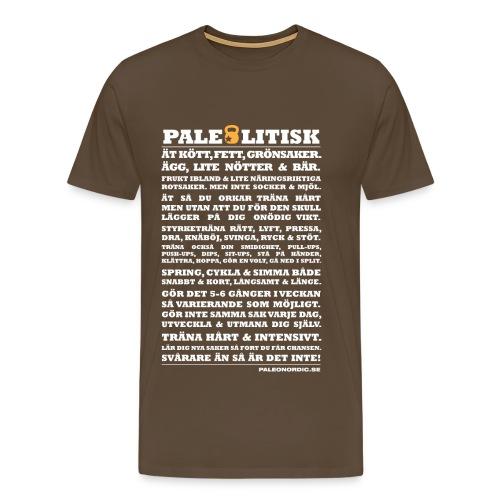 PALEOLITISK 100 ORD - Premium-T-shirt herr