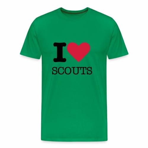 I love Scouts - T-shirt Premium Homme