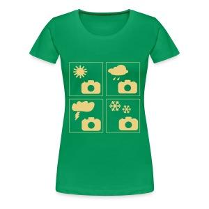 Grünes Frauen Girlie-Shirt - Frauen Premium T-Shirt