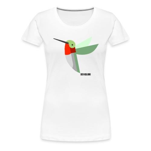 KOLIBRI CLASSIC WOMEN WHITE - Frauen Premium T-Shirt