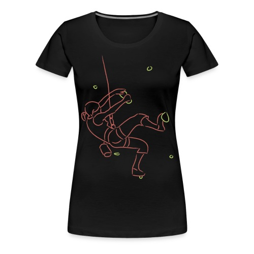 Climbing fan t-shirt #2 - Vrouwen Premium T-shirt
