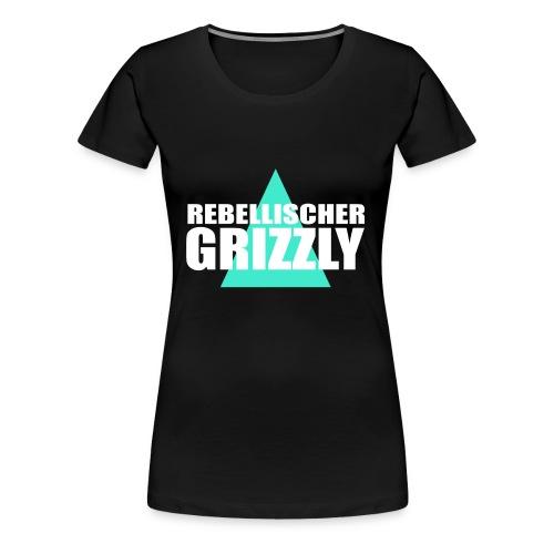 REBELLISCHER GRIZZLY BLACK GIRL - Frauen Premium T-Shirt