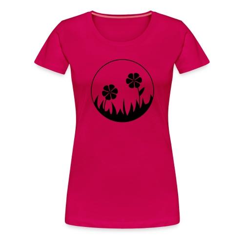 T-Shirt pink - Blumen im Mondlicht - Frauen Premium T-Shirt
