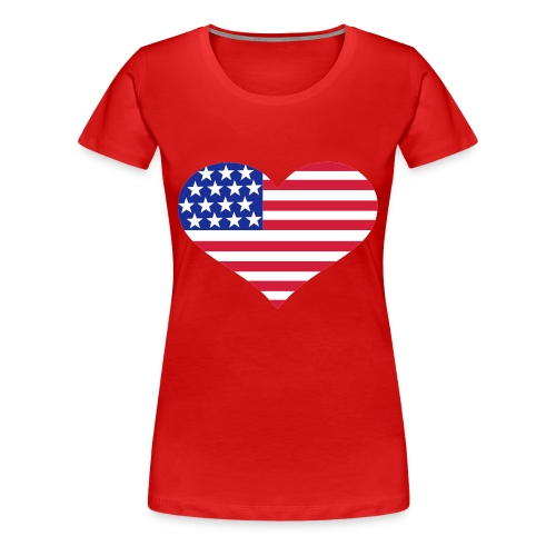 USA - T-shirt Premium Femme