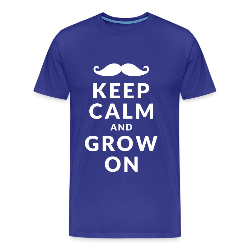 Keep Calm and Grow On - Mannen Premium T-shirt