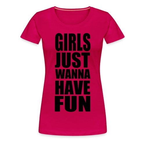 girls fun - Frauen Premium T-Shirt