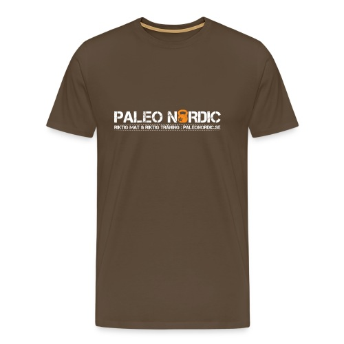 PALEOLITISK 100 ORD MED TYCK FRAM OCH BAK - Premium-T-shirt herr