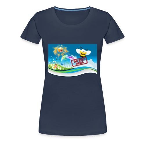 Du Bist Gera - Girlieshirt (navy) - Frauen Premium T-Shirt