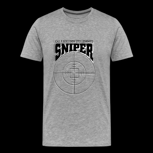 Sniper (black) - Koszulka męska Premium