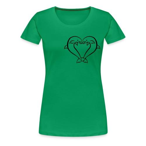 Dauphin coeur - T-shirt Premium Femme