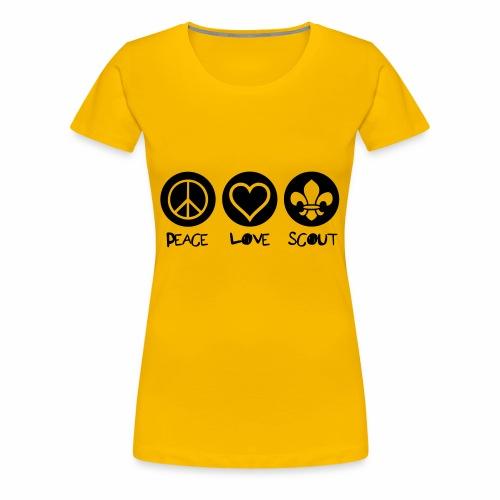 Peace Love Scout - T-shirt Premium Femme