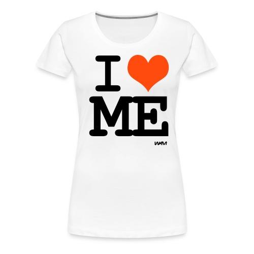 Rakastan itseäni - Naisten premium t-paita