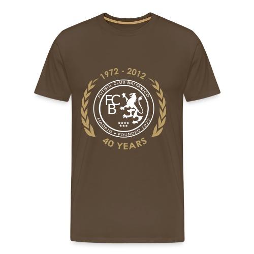 FC Británico 40th White/Gold T-Shirt - Men's Premium T-Shirt
