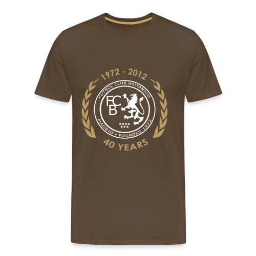 FC Británico 40th White/Gold T-Shirt - Men's Premium T-Shirt