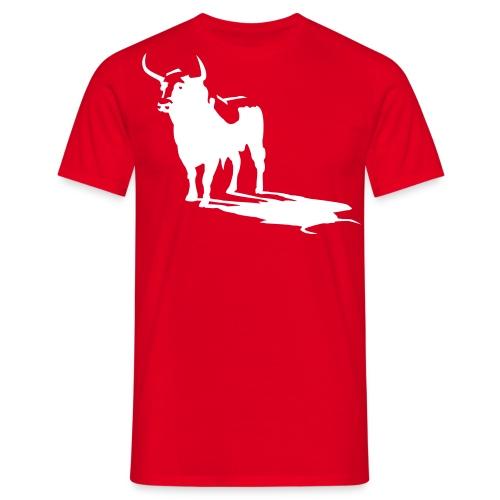 t-shirt classique homme rouge+ toro blanc - T-shirt Homme