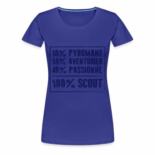 100% Scout - T-shirt Premium Femme