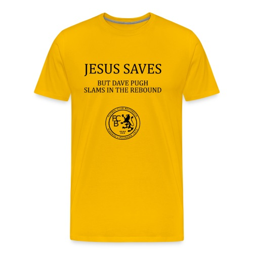 Jesus Saves - Dave Pugh Black Text - Men's Premium T-Shirt