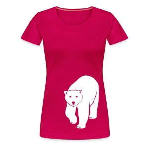 tier t-shirt eisbär polar bear ice knut klimawandel eis nordpol bär stop global warming CO2 - Frauen Premium T-Shirt