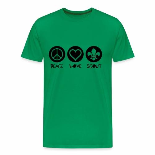 Peace Love Scout - T-shirt Premium Homme