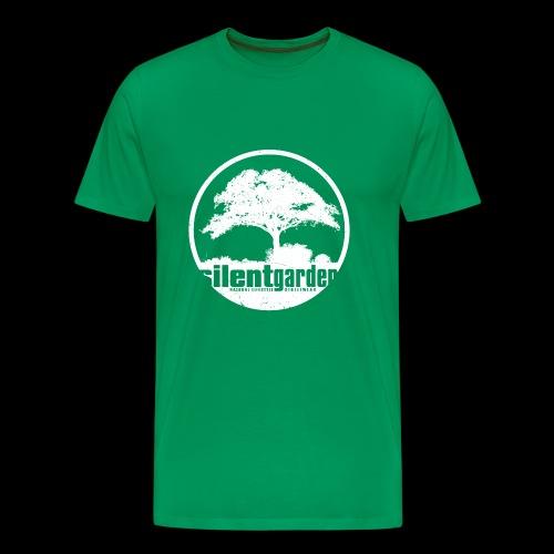 silent garden (white oldstyle) - Männer Premium T-Shirt