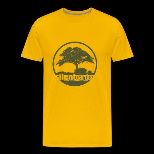 silent garden (green oldstyle) - Premium T-skjorte for menn