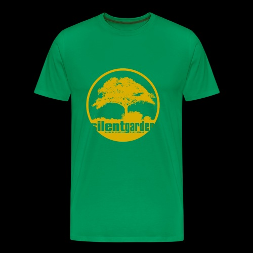 silent garden (yellow) - Premium-T-shirt herr