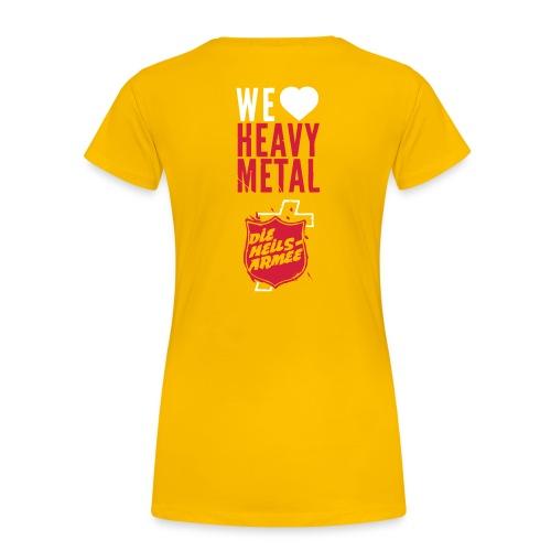 Brass Band Heavy Metal - mit Rückendruck (weiß/rot) - Frauen Premium T-Shirt