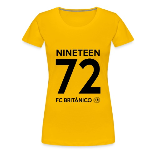FC Británico 72 Black Text Ladies T-Shirt - Women's Premium T-Shirt