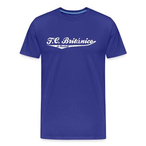 Mens FC Británico College Style T-Shirt - Men's Premium T-Shirt