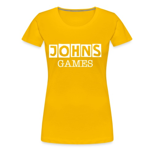 Johns Game Channel!  - Women's Premium T-Shirt