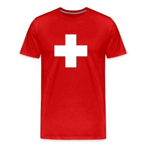 XXXL T-shirt mit Schweizer Kreuz - Männer Premium T-Shirt