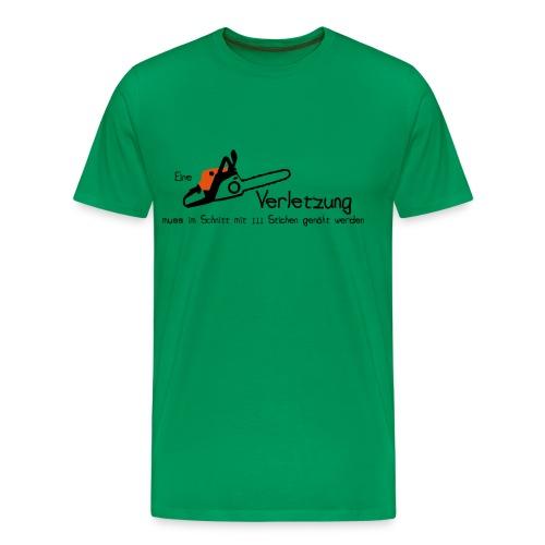Kettensägenverletzung - Männer Premium T-Shirt