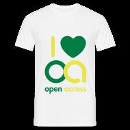 T-Shirts ~ Männer T-Shirt ~ I love Open Access T-Shirt (Mann)