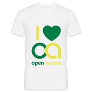T-Shirts ~ Männer T-Shirt ~ I love Open Access T-Shirt (Mann)