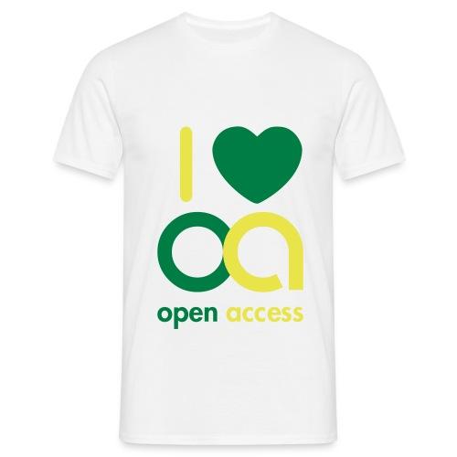 I love Open Access T-Shirt (Mann) - Männer T-Shirt
