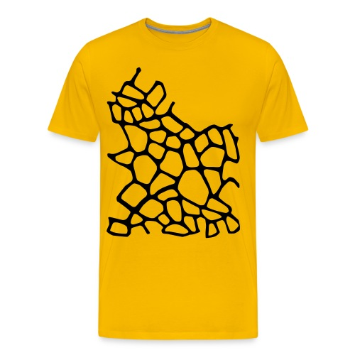 Giraffe Print Mens Tee - Men's Premium T-Shirt