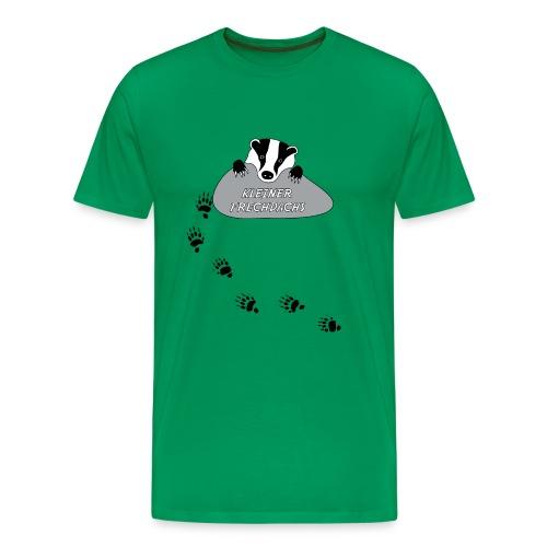 t-shirt kinder baby kleiner frechdachs dachs frech spur tierspur pfote dreckspatz schmutzfink tiershirt - Männer Premium T-Shirt