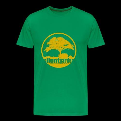 silent garden (yellow oldstyle) - Männer Premium T-Shirt