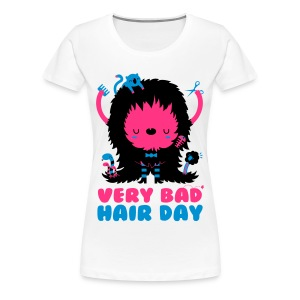 Hvit bad_hair_day T-skjorter - Premium T-skjorte for kvinner