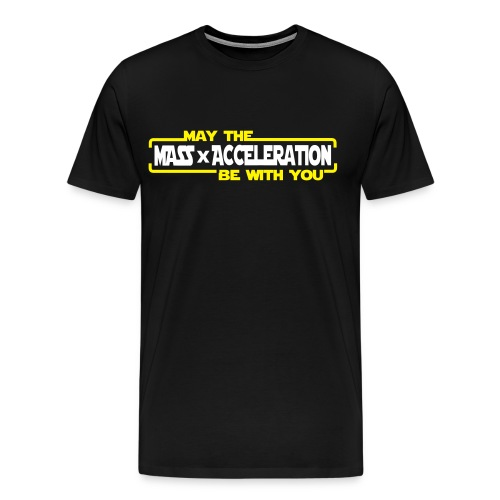 May the Force be with you (FlocK) - Männer Premium T-Shirt