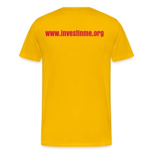 Invest in ME writing (red) - Men's Premium T-Shirt