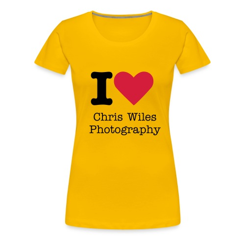 I love Chris Wiles Photography - Women's Premium T-Shirt
