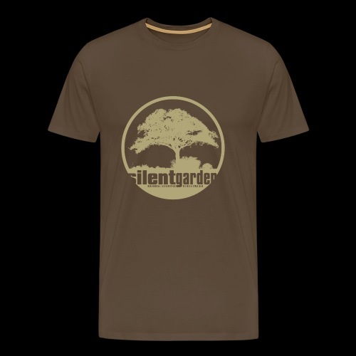 silent garden (beige) - Männer Premium T-Shirt