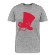 T-Shirts ~ Men's Premium T-Shirt ~ Official Hat Films Full Frontal (Red Logo)