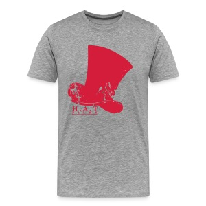 Official Hat Films Full Frontal (Red Logo) - Men's Premium T-Shirt