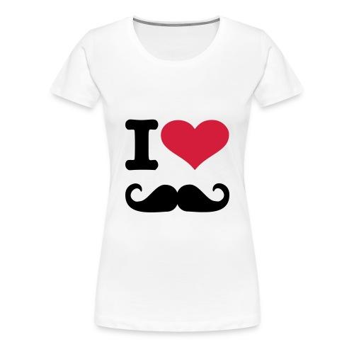I heart moustache womens - Women's Premium T-Shirt